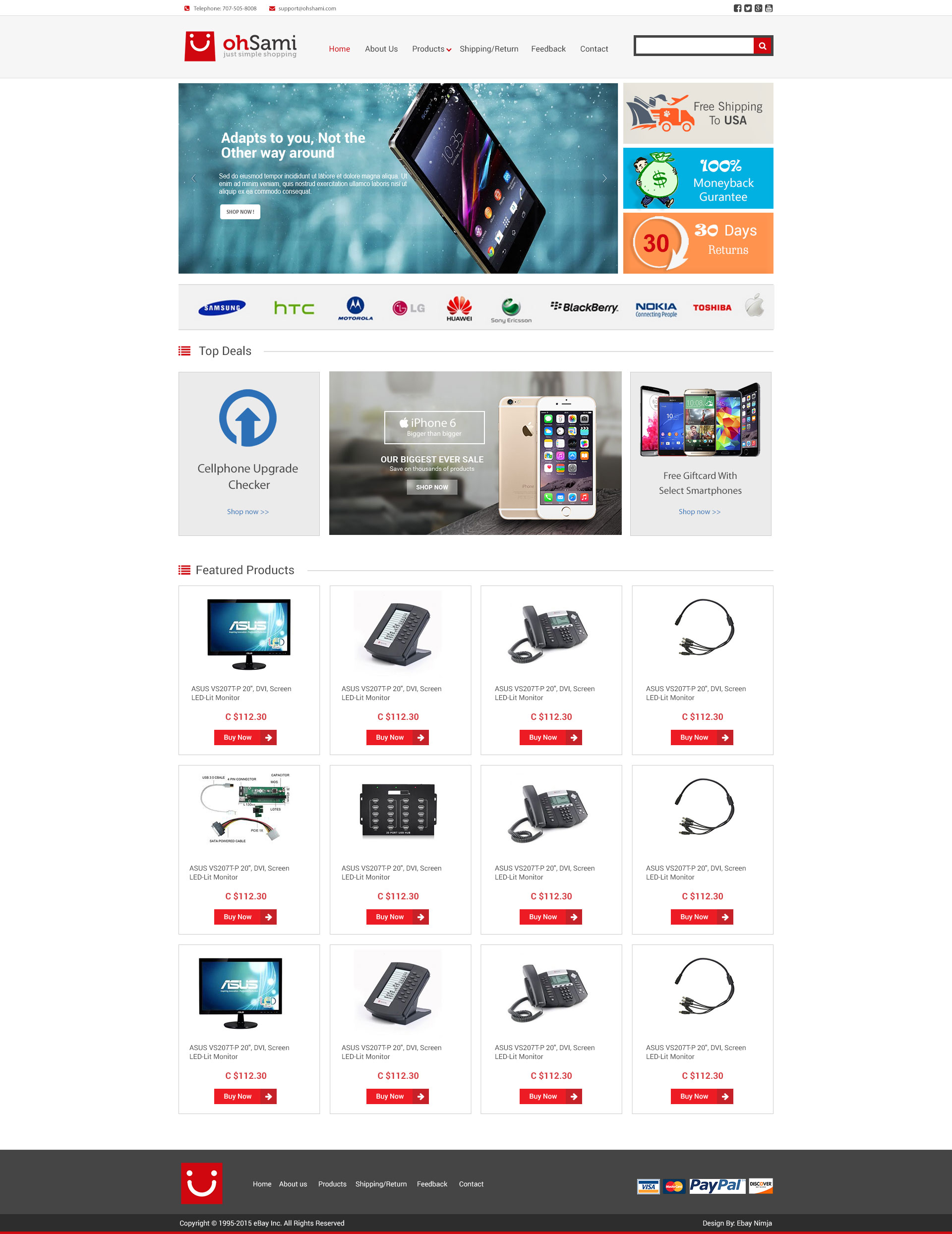 Oh Sami Store Custom EBay Shop Description Template And - Custom ebay store template