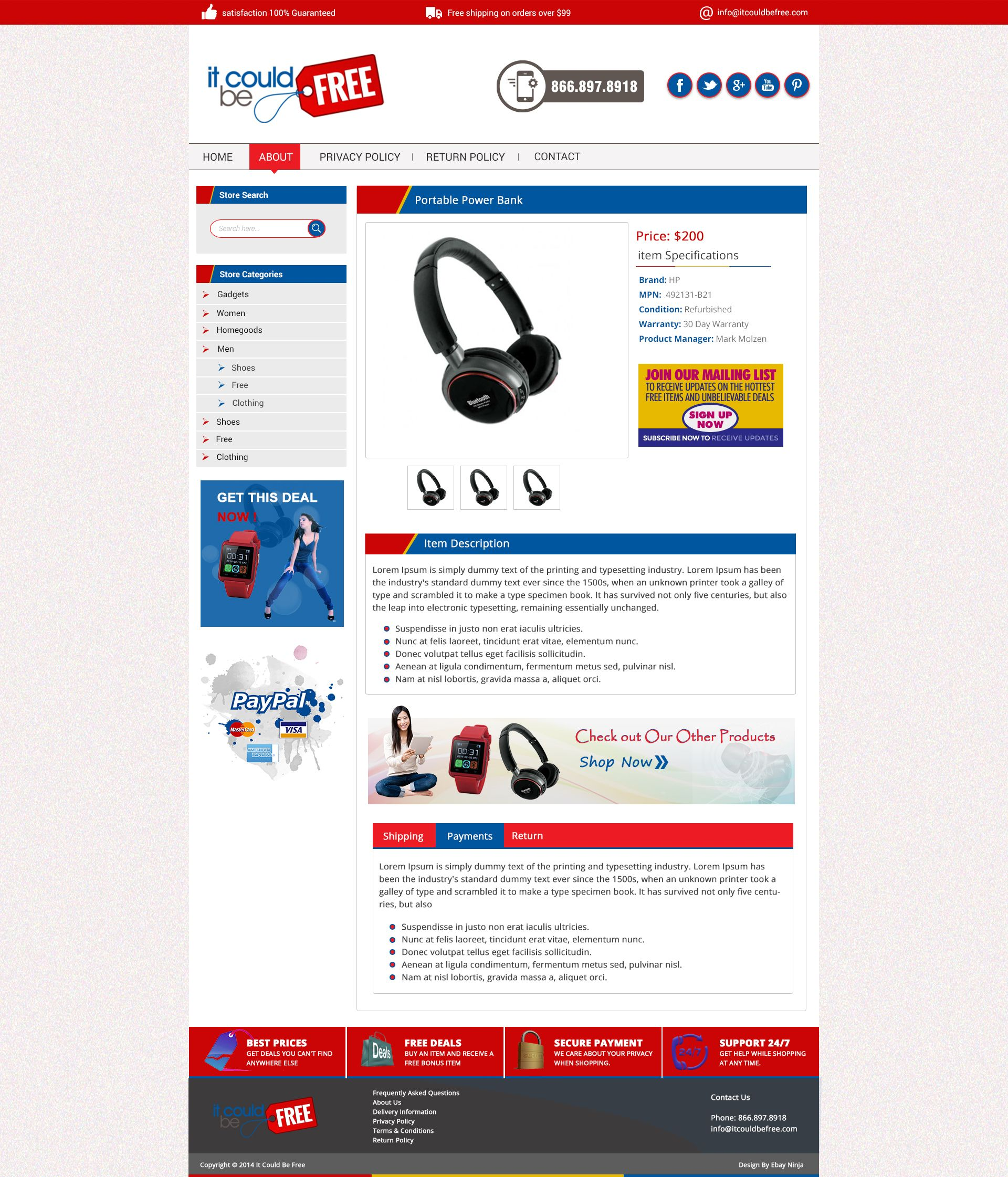 Custom EBay Store Listing Template ChannelAdvisor Integration - Ebay item template