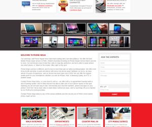 Phone Ninja- Custom WordPress Website Redesigning from Scratch