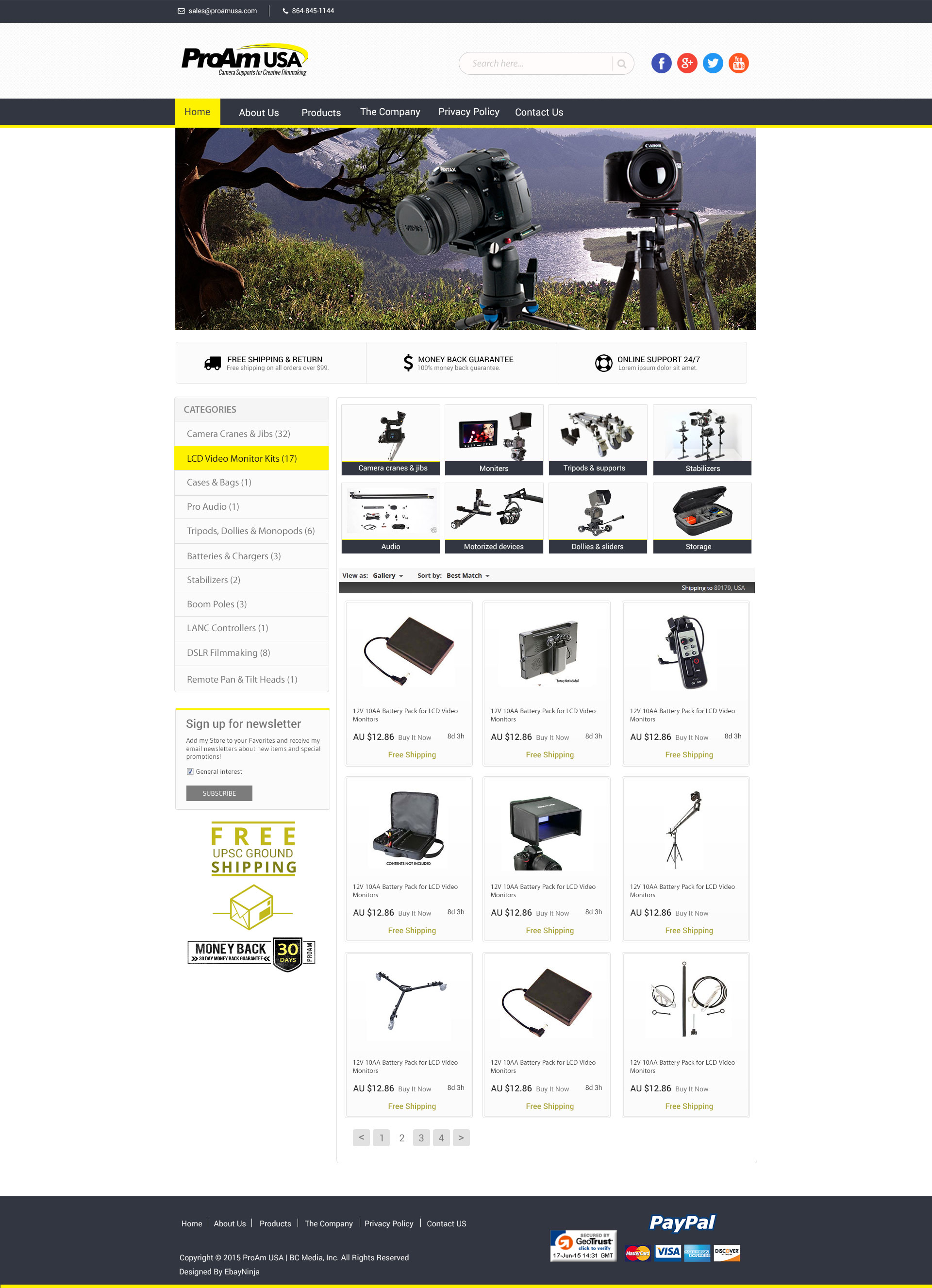 ProamUSA.com – Redesigning eBay Shop & Template for Better Branding & Usability