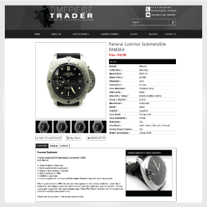 TImePieceTraderLLC – Responsive eBay Listing Template and Integration with WP Lister