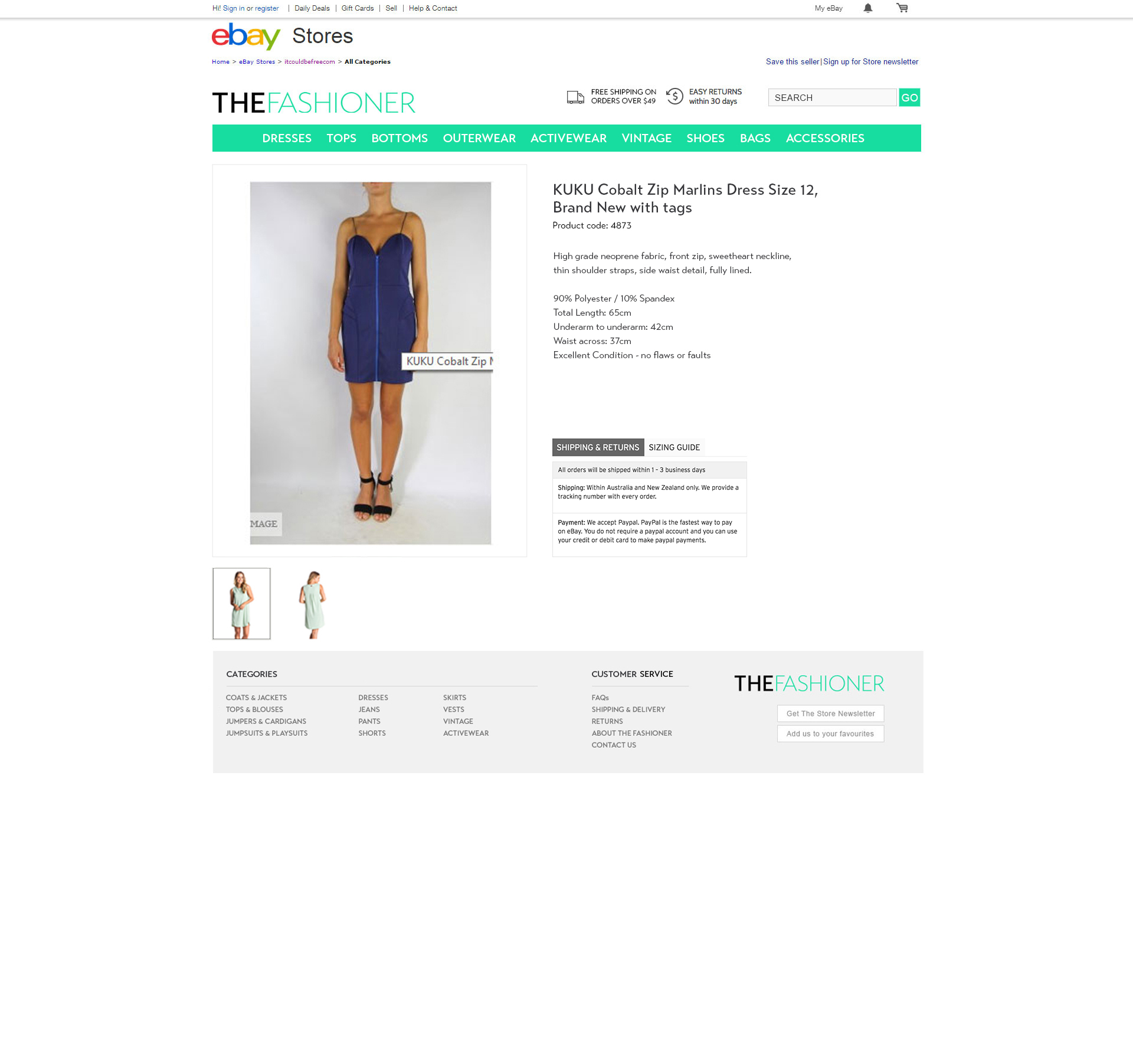 TheFashioner.com.au  – Custom eBay Shop and M2E PRO Template