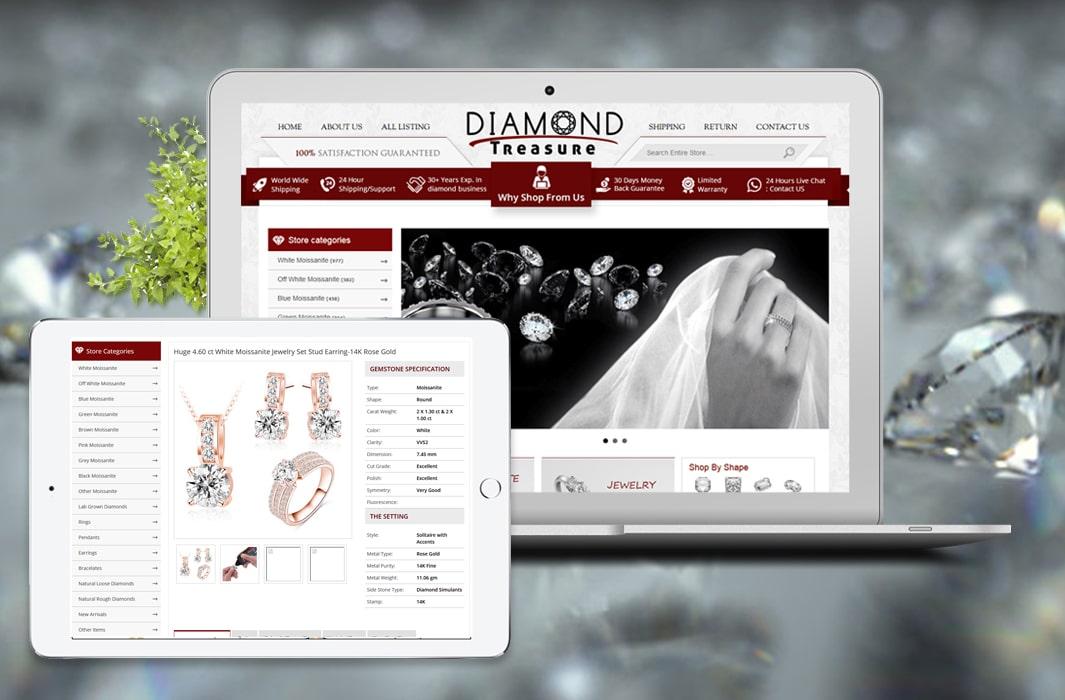 Diamond Treasure- Custom eBay Shop , Listing Template and Valigara Integration and Set-up-min