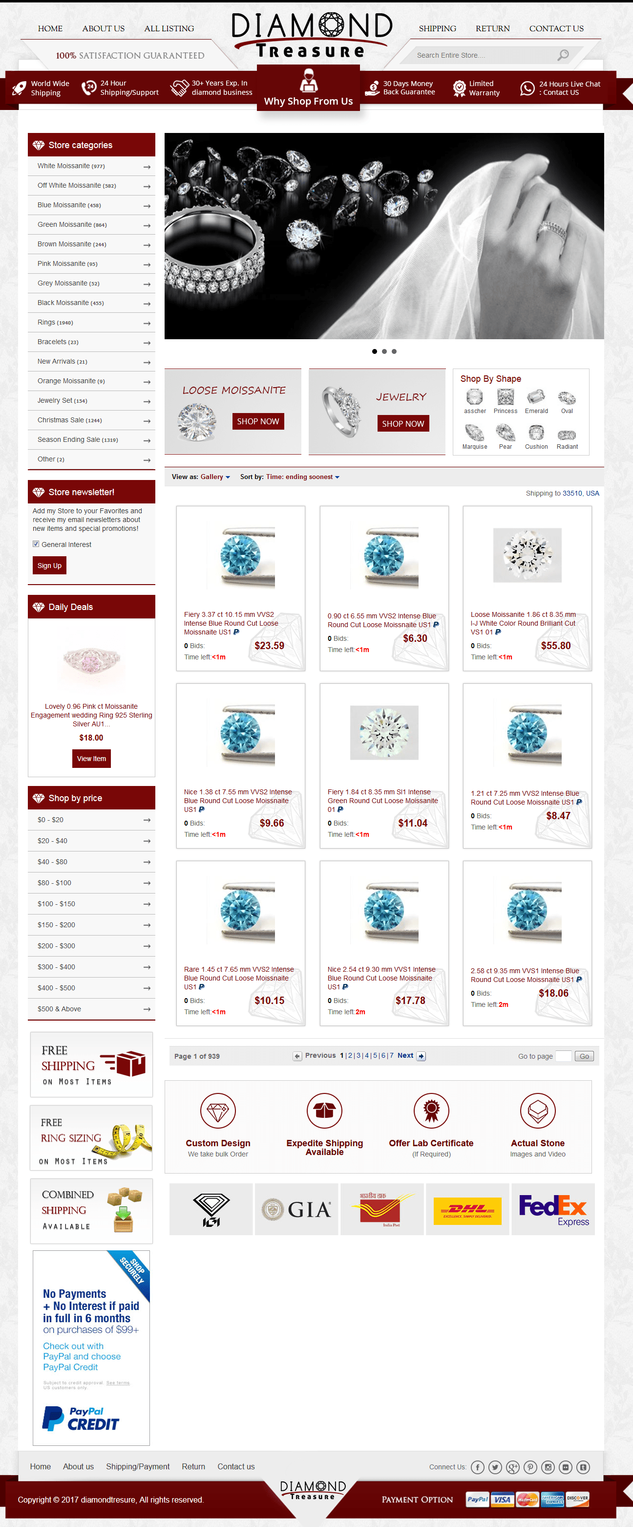 Diamond Treasure- Custom eBay Shop , Listing Template and Valigara Integration and Set-up