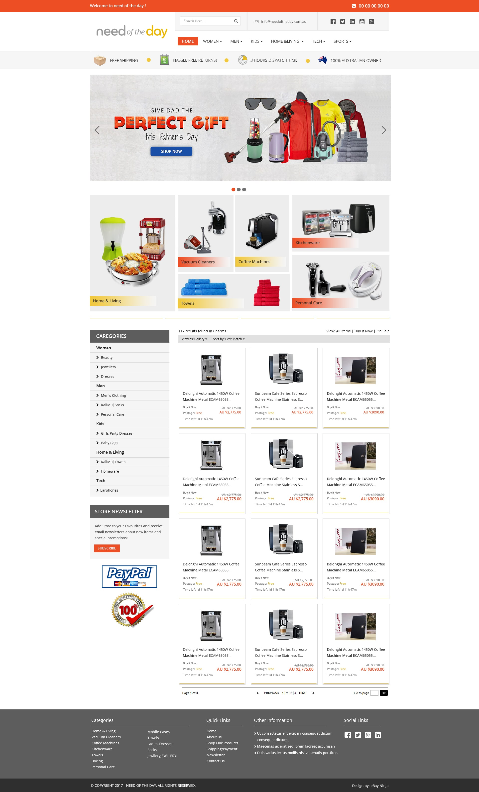 Needoftheday.com.au – Redesigning eBay Storefront and Product Template for Better Branding and Sales