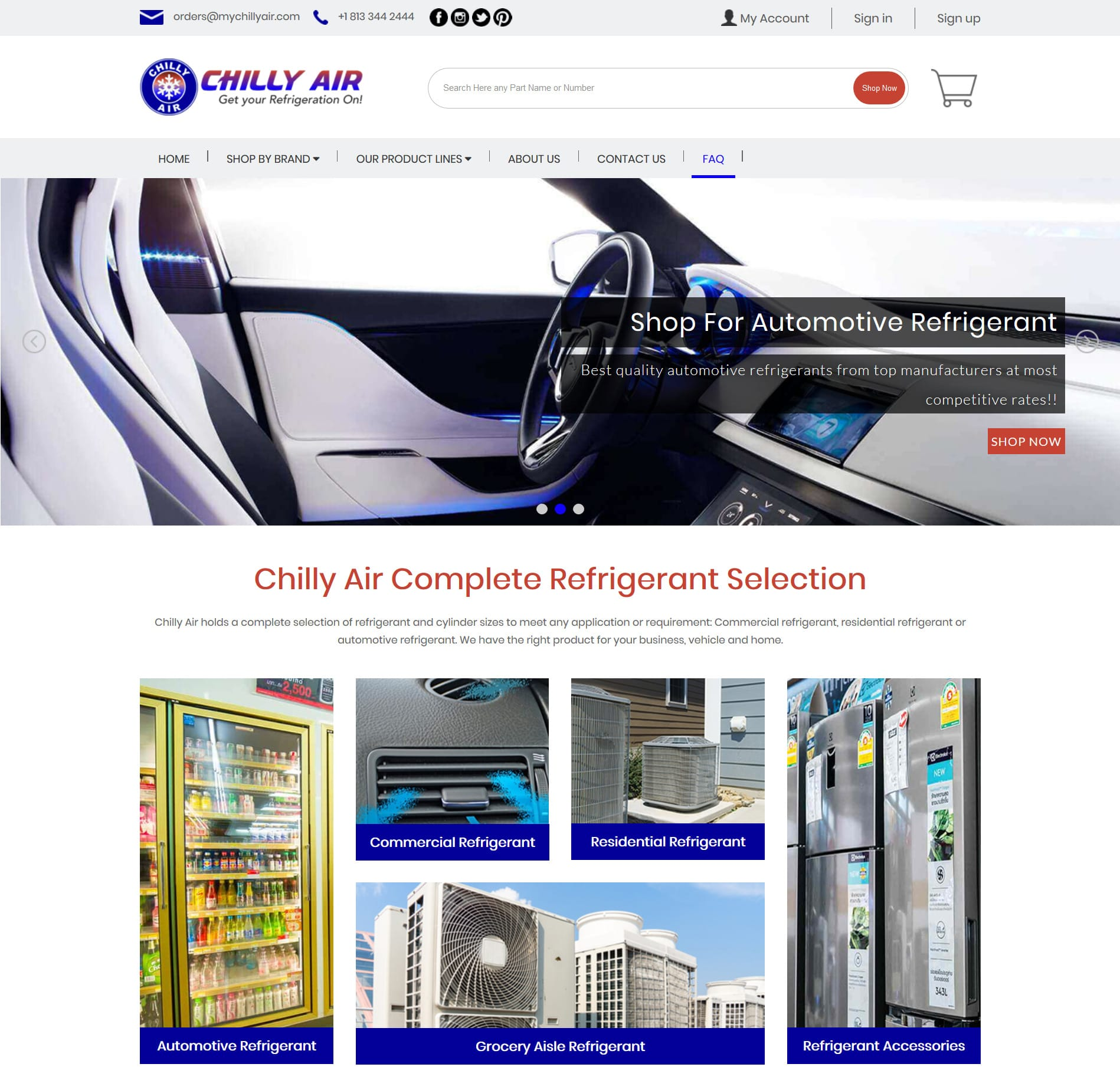 MyChillyAir.com – Redesigning Bigcommerce website for conversion optimization and better User Experience