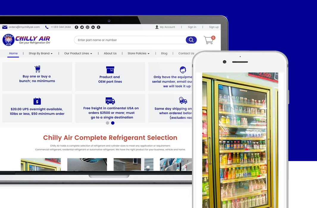 MyChillyAir – Redesigning Bigcommerce website for conversion optimization and better User Experience-min