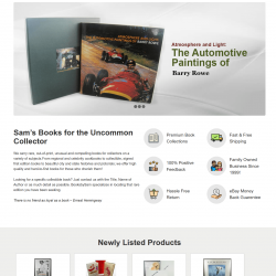 Books By Sam – New eBay Shop and Listing Template Design