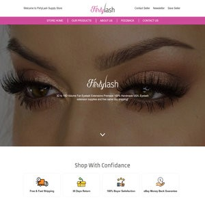 Flirty Lashes – Ecwid to eBay and Amazon integration with Professional Storefront Design