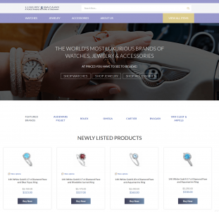 Luxury Bazaar – Complex eBay Store Template Customization