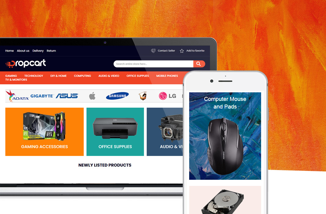 Dropcart.co.uk – Premium eBay Shop & Product Template with M2E PRO Integration