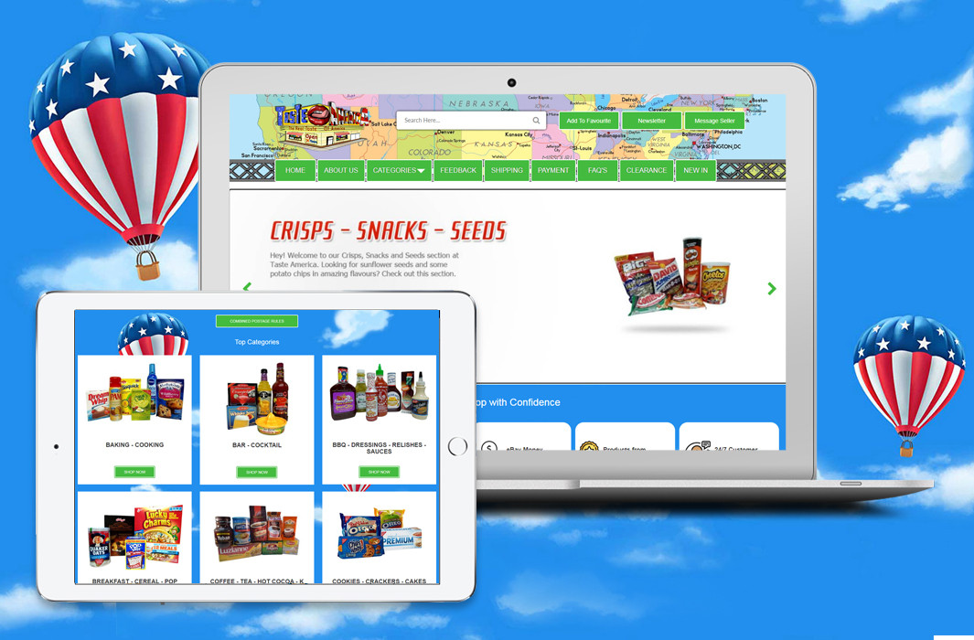 Taste America – Magento to eBay Integration with eBay Shop and Product Listing Template